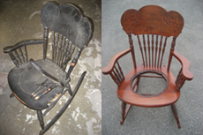 Dear Grandmother's rocking chair repaired and refinished.